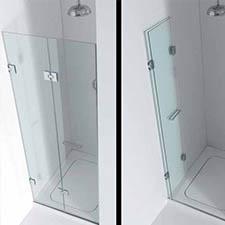 Folding Butterfly Glass Shower Doors