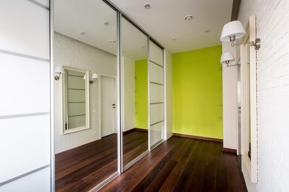 Sliding Mirror Door in Hallway