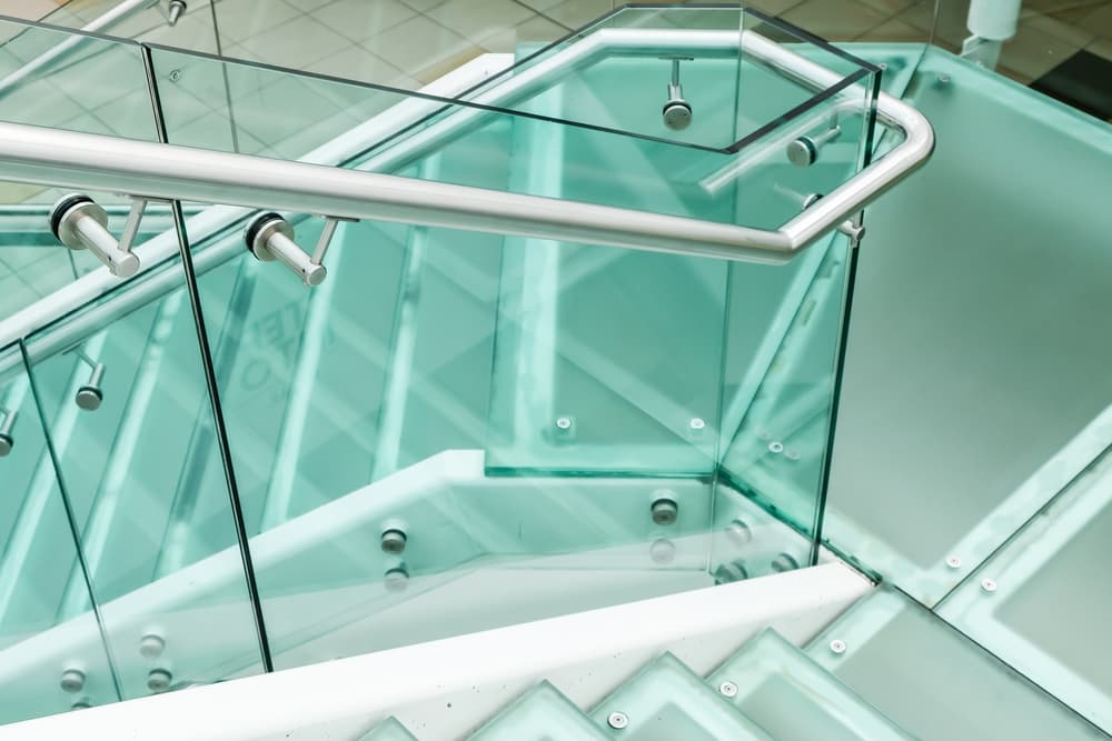 frame post glass railing