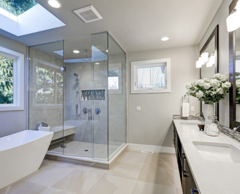 Frameless Shower Door (Wall-to-Wall or Sectional)